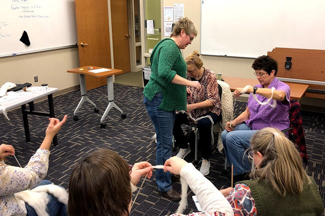 Lifelong Learning Wool Spinning Class