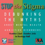 """The goal of this event is to educate people on mental health and addictive disorders and to debunk some of the myths that lead to stigma surrounding these issues,"" said Elfie Neber, psychology faculty at GFC MSU."