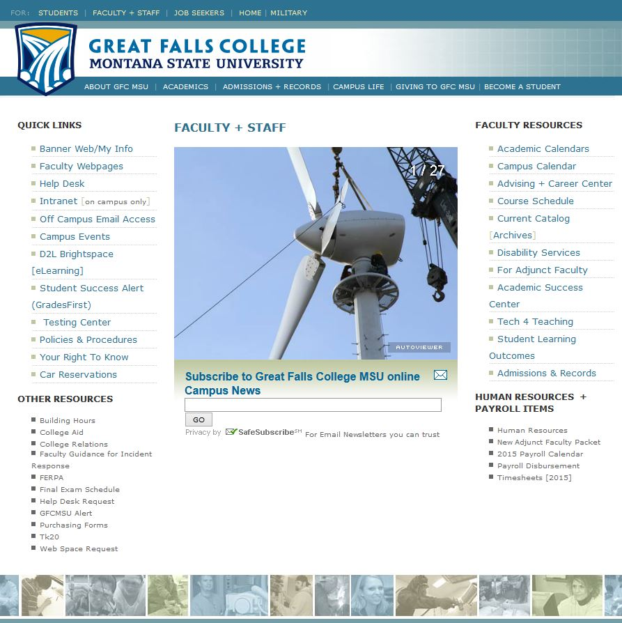 Whats New On This New Website Great Falls College Msu