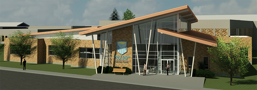 Rendering of the new Dental Clinic addition