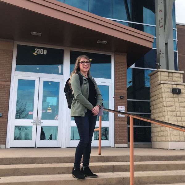 Great Falls College student Katie Maphies was overjoyed to learn about the pathway Great Falls College and the University of Montana formed for students to get a bachelor's degree in social work without having to move to Missoula.
